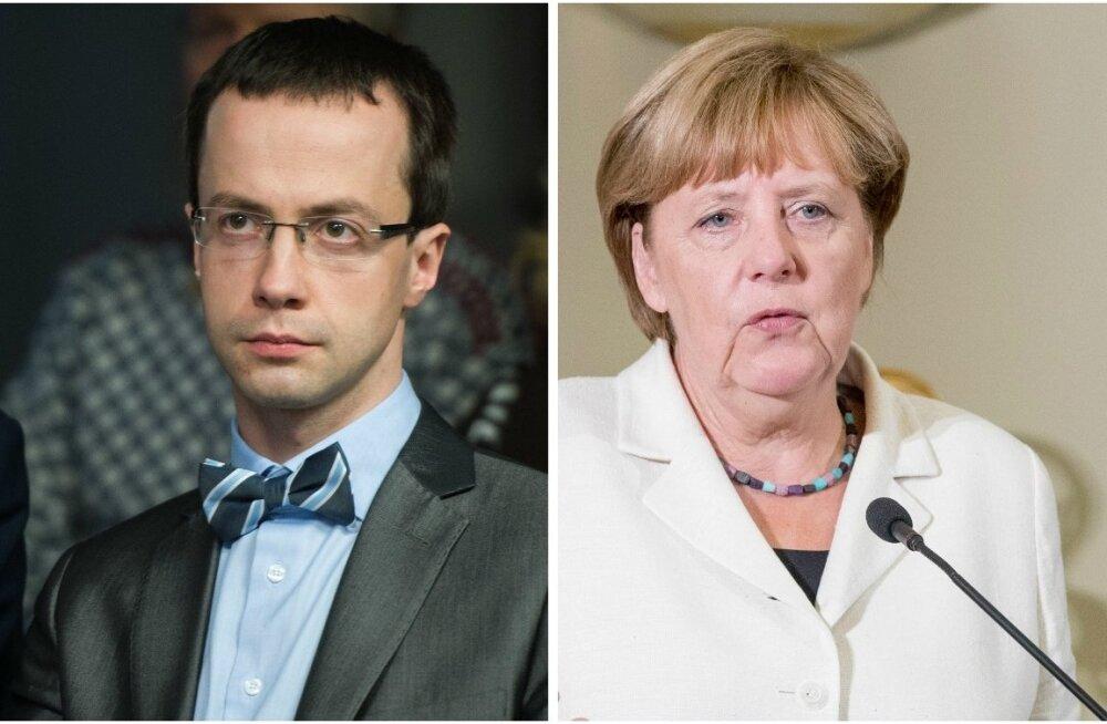 Jevgeni Krištafovitš ja Angela Merkel