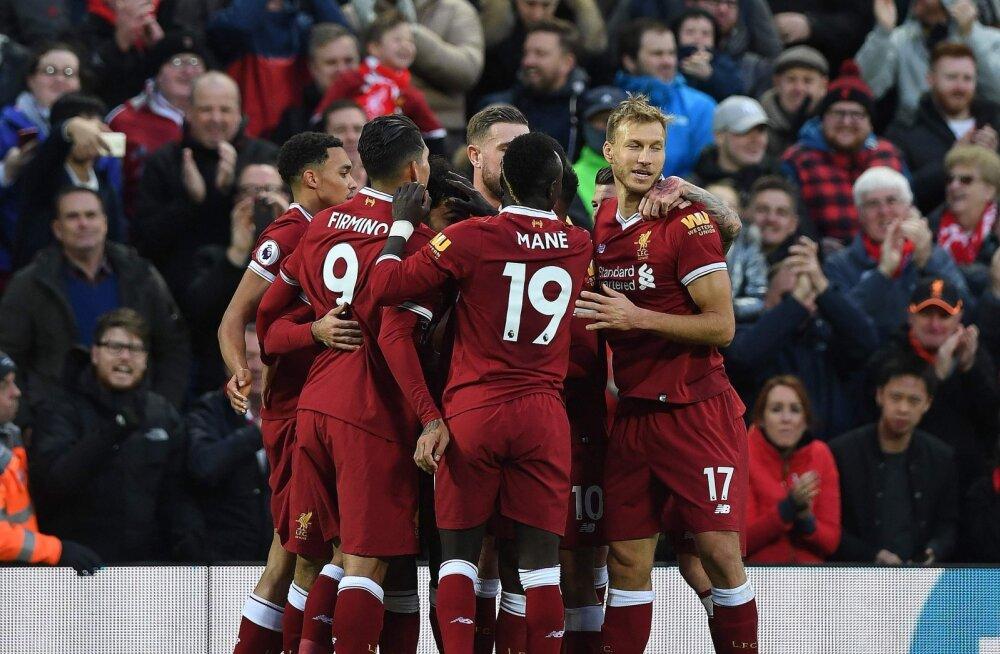 Liverpool ja Klavan tähistavad väravat