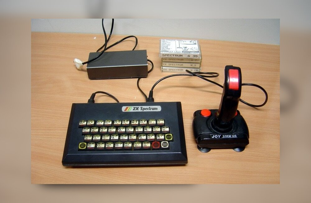 Koduarvutit Sinclair ZX Spectrum, mida toodeti aastatel 1982-1990.