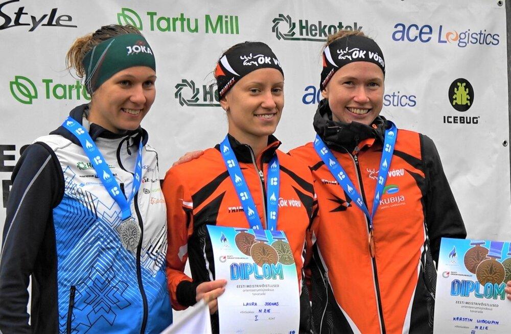 Naiste esikolmik, võitja Laura Joonas