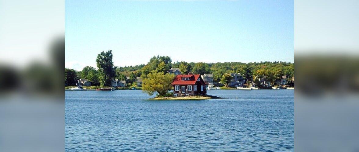 Cамый маленький в мире обитаемый остров-дом