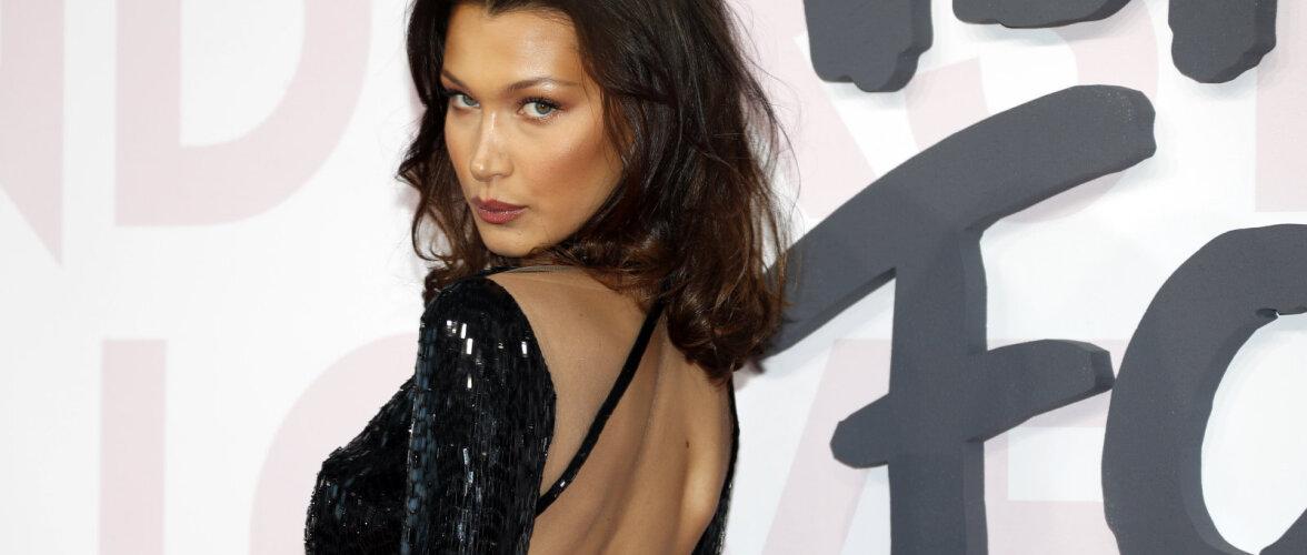 VAU! Paljastav kaader: modell Bella Hadidi keha katab vaid see selle suve moeröögatus
