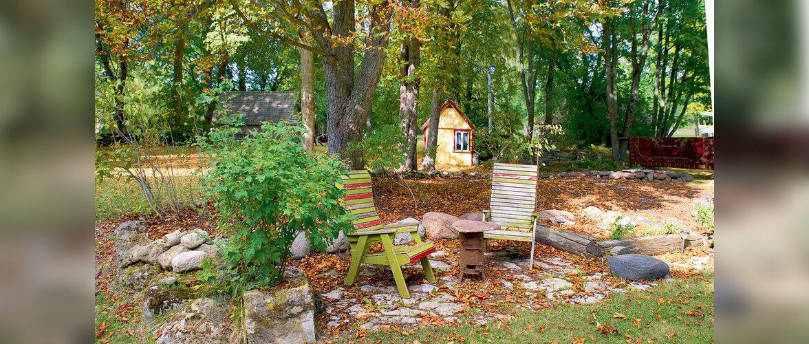 Setu-saare tandemi kodu Saaremaal: hülgerasvaga immutatud laastukatus ja peremeeste istutatud alleed