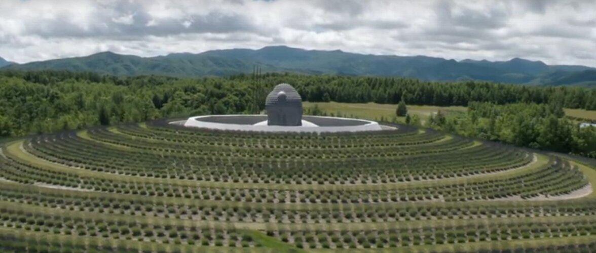 PÕNEV EHITIS | Hiiglaslikku Buddha kuju ümbritseb Sapporo kalmistul 150 000 lavendlitaime