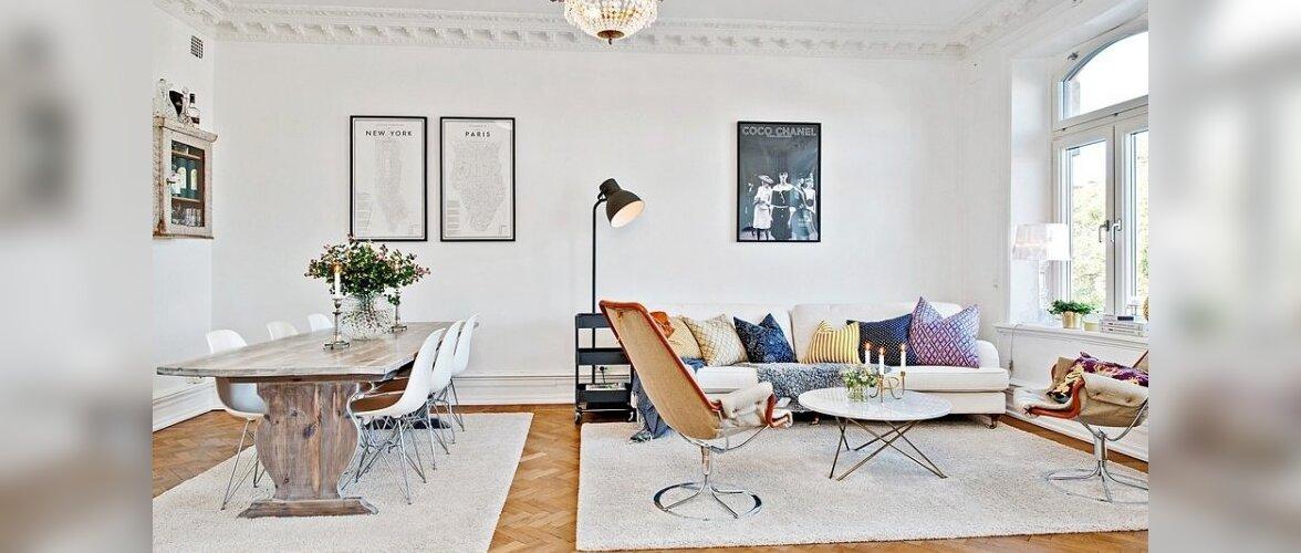 Värvikalt valge kodu Gäteboris