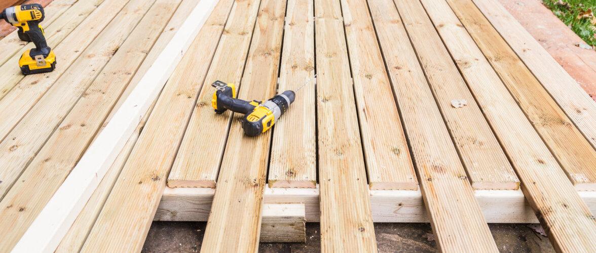 Uus lahendus terrassi ehitamiseks ebatasasele pinnale