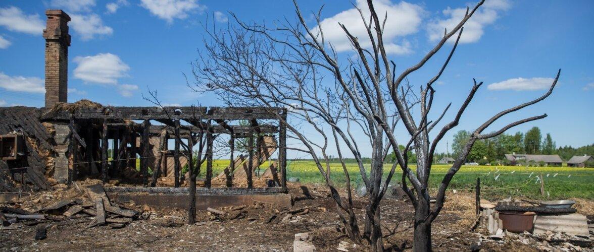 Palupere maja põleng