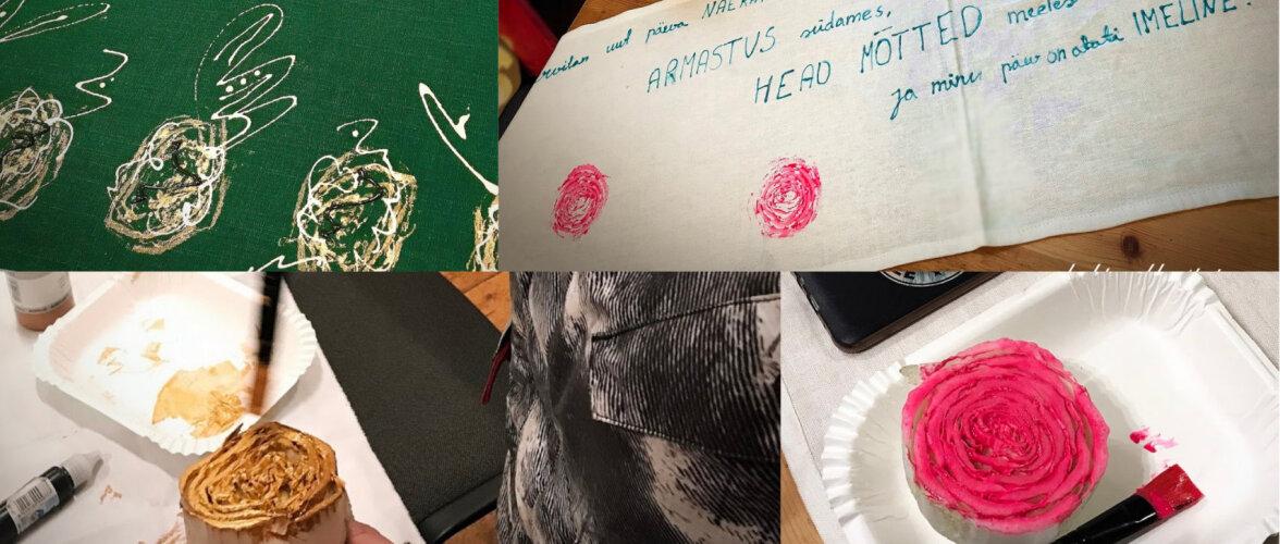 FOTOD | Kaunist tekstiilitrükki saab teha ka Hiina kapsaga