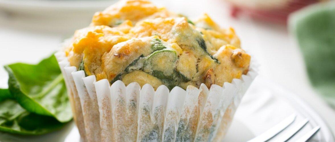 Muffin varakevadise rohelisega.