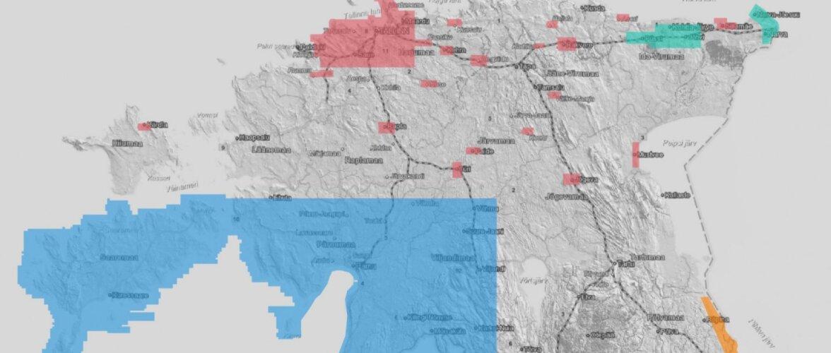 Tutvu oma koduümbrusega! Maa-amet uuendas kogu Eestit katvat reljeefikaarti