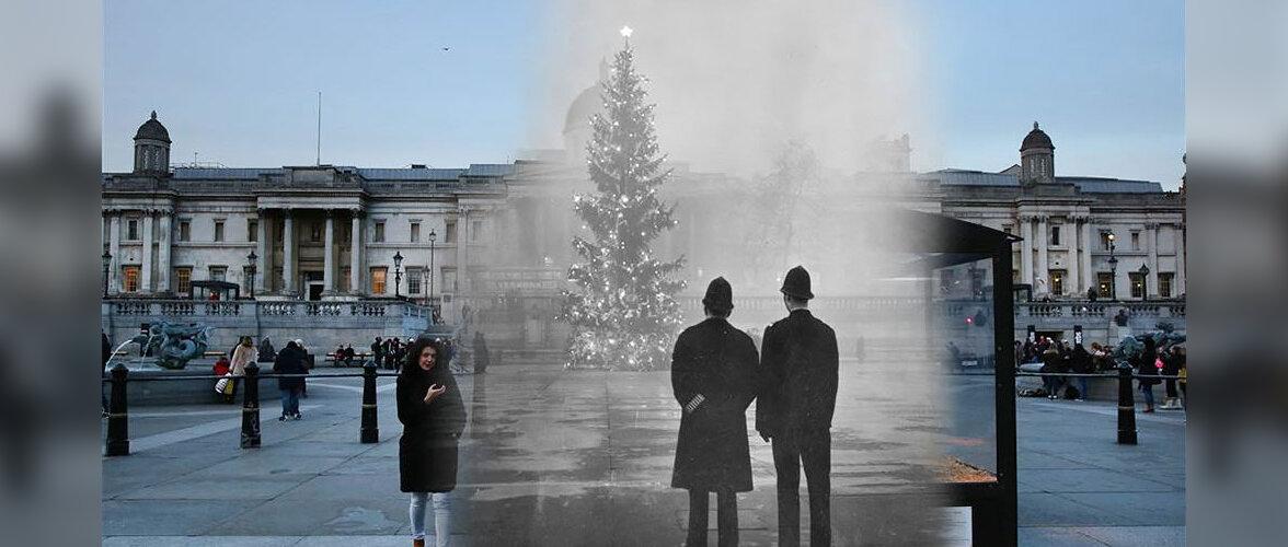 Старые фото рождественского Лондона совместили с современными