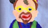 Kunstnik joonistab erinevate ainete mõju all endast autoportreesid