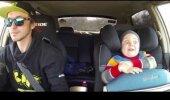 VIDEO   Naera puruks! Vaata, kuidas reageerib poiss, kes isaga koos driftib