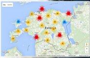 ИНТЕРАКТИВНАЯ КАРТА: Смотрите, где в Эстонии чаще всего нарушают правила дорожного движения