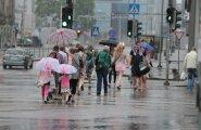 ФОТО: Метеослужба предупреждает о грозах по всей Эстонии — в Таллинне прошел ливень