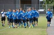 Eesti koondis treeningul
