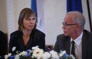 BLOGI, VIDEO ja FOTOD: Riigikogulased esitavad Kersti Kaljulaiu presidendikandidaadiks
