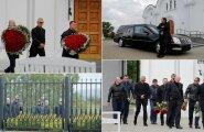 ФОТО и ВИДЕО DELFI: В Ласнамяэ проводили в последний путь лидера преступного мира Николая Таранкова