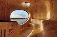 Grotto saun kui kunsiteos — väljast kandiline, seest ümar
