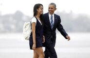 USA president Barack Obama oma vanima tütre Maliaga.