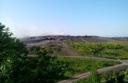 Põleng Kopli prügilas Maleva tänaval