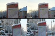 ФОТО: Городские термометры ввели жителей Кохтла-Ярве в заблуждение