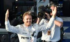 FOTOD ja VIDEO: Dramaatilise Austraalia GP võitis Rosberg Hamiltoni ja Vetteli ees