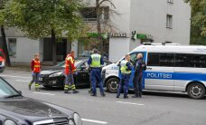 ФОТО: В Таллинне попал в аварию ехавший на вызов полицейский автомобиль
