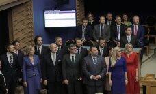 ФОТО и ВИДЕО: Новые министры принесли перед Рийгикогу присягу