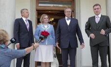 FOTOD JA VIDEO: Jürgen Ligi ja Maris Lauri käisid presidendi juures