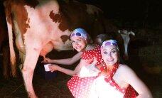 FOTOD ja VIDEO: Blondid põllul! Grete Kleini ja Brigitte Susanne Hundi pullitegemine ehmatas mullika ära!