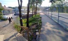 ФОТО читателя Delfi: В Ивангороде началась реконструкция погранпункта