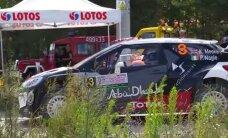 VIDEO: Sünnipäevalaps Meeke keeras juba Poola ralli testikatsel auto üle katuse