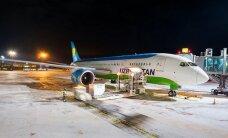 """ФОТО: В аэропорту """"Рига"""" впервые приземлился Boeing 787 Dreamliner"""