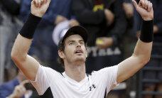 Andy Murray oli French Openi teises ringis suurtes raskustes