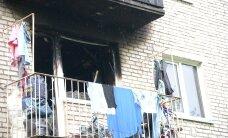 ФОТО: При пожаре в Силламяэ погибли молодая женщина и ее маленькая дочь