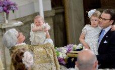 NUNNUD FOTOD: Ruttu emme sülle tagasi! Rootsi pisiprintsi nägu tõmbus jumalasulase käes keset ristimist õige virilaks