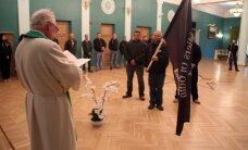 """""""Солдаты Одина"""" в Кохтла-Ярве провели церемонию освящения флага"""