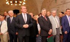 ФОТО: Находящийся под следствием Ефимов пришел на прием в честь Дня России в Нарве