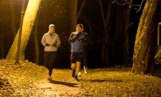 ФОТО: Находящаяся с визитом в Ида-Вирумаа президент Кальюлайд начала день с пробежки