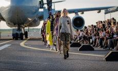 Необычный модный показ состоялся на посадочной полосе аэропорта в Хельсинки