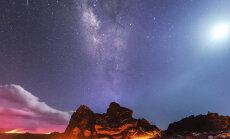 Фотограф поймал метеор, Луну, Млечный путь и лаву в одном кадре