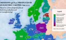 Kas tõesti? Selle kaardi järgi on Eestis elektriauto keskkonnale sisepõlemismootorist kahjulikum