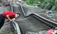 See ei ole silmapete: rong sõidab ka siis, kui rööpad on suisa kõverad