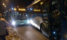 Tallinnas Poska peatuses põrkas kaks liinibussi külgepidi kokku