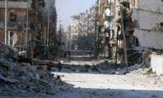 Vaade Aleppo idaosas mässuliste käes olnud piirkonnale enne valitsusvägede saabumist