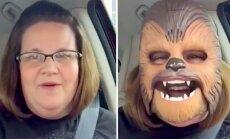 NAERUPOMM: 46 miljonit vaatamist! Star Warsi maskis südamest naeru pröökav pereema püstitas vähem kui päevaga Facebooki rekordi
