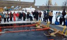 В Санкт-Петербурге прошли необычные соревнования по зимнему плаванию. Теперь они начинаются в Таллинне