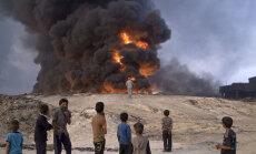 Iraagis põlema pandud väävlitehasest paiskuvad gaasid mõjutavad keskkonda ka Euroopas