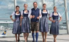 Как отмечают Октоберфест на борту самолетов Lufthansa